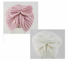 Baby girls knitted bow turban hat