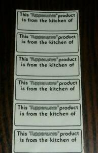 """This Tupperware product is from the kitchen of _____ ""  55 Labels!  *NEW*"