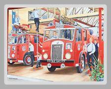 "10"" X 8"" bomberos brigada de bomberos luchador de estación letrero de metal placa de estaño 1327"