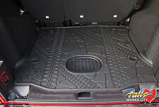 2015-18 Jeep Wrangler JK Unlimited Rear Cargo Mat Tray with Subwoofer Cutout OEM
