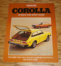 Original 1976 Toyota Corolla Liftback & Sport Coupe Sales Brochure 76