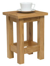 Small Oak Side Table | Solid Wood Slim Occasional/Coffee/Lamp/End/Console Stand