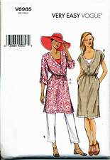 VOGUE SEWING PATTERN 8985 MISSES 4-14 LOOSE-FITTING PULLOVER TUNIC/DRESS & PANTS