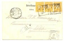 DUTCH INDIES=1900 PPC =MEDAN= N.I. POSTAGENT PENANG = TO HOLLAND -F/VF