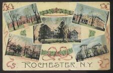 POSTCARD ROCHESTER NY/NEW YORK CITY HOSPITALS MULTI-VIEW 1907