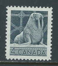 Canada #335(1) 1954 4 cent gray CANADIAN WILDLIFE WALRUS MNH