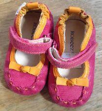 ROBEEZ FIRST WALKER LEATHER Shoes Fuschia PINK & Orange Creeper Cruiser 6-9 m 2