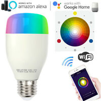 WiFi Smart Light LED Bulb 10W RGBW E26 E27 for Amazon Alexa Echo Google Home