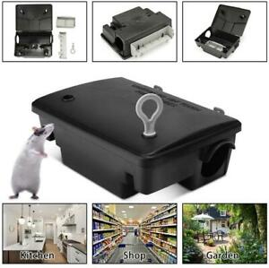 Rat Mouse Mice Rodent Bait Block Station Box Trap & Key for Home Warehouse Hotel