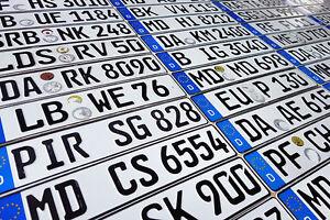 ORIGINAL German License Plate Mazda-Acura Audi BMW Mercedes Benz Porsche VW Fiat