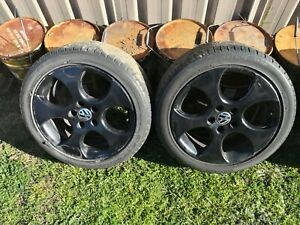 """17"""" VW GOLF GTI Wheel Rim 225 45 Denver black mk5 mk6 Audi skoda 5x112"""