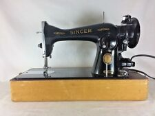 Vintage Singer 1955 Model 15-91 Sewing Machine Upholstery Quilting AL w/ Case