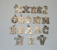 Vintage Estate Sterling Silver Charms X E O B A N Letters 925 Jewelry