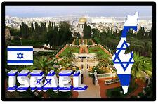ISRAEL MAP / FLAG / SIGHTS  - SOUVENIR NOVELTY FRIDGE MAGNET - NEW - GIFTS