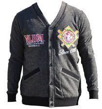 NLBM Mens Cardigan Sweater Charcoal Gray