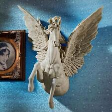 Divine Greek Mythological Flying Horse Pegasus Feathered Wing Wall Sculpture