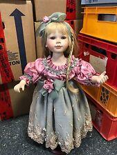 Künstlerpuppe Porzellan Puppe 62 cm. Top Zustand