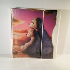 1993 Vintage Mead natuer pals dogs 3 Ring-binder  with 2 Folders