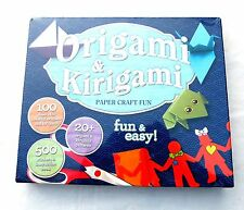 Origami & Kirigami Paper Craft Fun Assorted Patterns Colors Sizes & Instructions