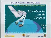 French Polynesia 1992 SG640 Satellite MS MNH