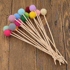 Pack of 5 Reed Fragrance Oil Diffuser Replacements Sticks Plush Balls Colorful