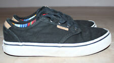 Vans Unisex Black/White Canvas Tennis Shoes Sz: 2