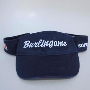 Burlingame California Softball YOUTH Visor Cap Hat Adjustable Strapback Blue