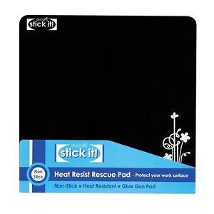 Stick It! (Docrafts) Heat Resist Black Rescue Glue Gun Pad (Rubber)