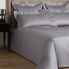 NEW FRETTE SINGLE AJOUR SATEEN QUEEN DUVET COVER SLATE GRAY RETAIL$475+tax ITALY