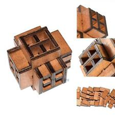 Kong Ming Luban Lock Children Adult Wooden Puzzle Brain Tease Toy (Window) #V
