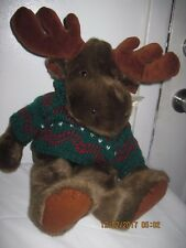 """Moose by Charter 21"""" Tall with a Cute Green Sweater"""