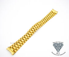 20MM Solid Steel Gold President Bracelet Band For Rolex Day-Date Watch + Tool