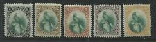 Guatemala 1881 set of 5 mint o.g. hinged