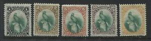 Guatemala 1881 set of 5 mint o.g. hinged