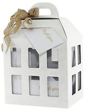 Scatola Lanterna bianca in cartone porta buste Matrimonio Nozze 30x22.5x40