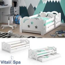 VitaliSpa Kinderbett Sari 160x80cm weiß mit Schubladen Jugendbett Rausfallschutz