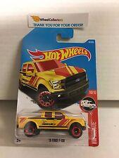 '15 Ford F-150 #65 * Yellow * 2017 Hot Wheels * Case C * N102