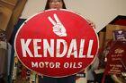 Vintage+1940%27s+Kendall+Motor+Oil+Gas+Station+2+Sided+24%22+Metal+Sign