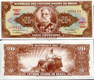 BRAZIL 20 CRUZEIROS 1962 P 178 UNC