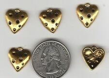 You Get 30 Gold Tone Metal Heart Charms. From Junkmanralf U.S. Seller - A 6