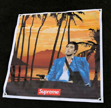 Scarface thick canvas vinyl banner Supreme poster Tony montana figure sign QA1