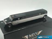 Hummer H2 Stretch Limousine black-silver NEO 45351 1:43