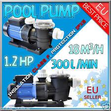 Pompa piscina pompa filtro 900 Watt 18 cbm/h MONOFASE GLS EUROPE 0,9 KW