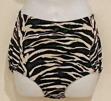 Vintage Tennis Pants Zebra Print 2 Pockets by Fancy Pants S Poly/Lycra Nwot Usa