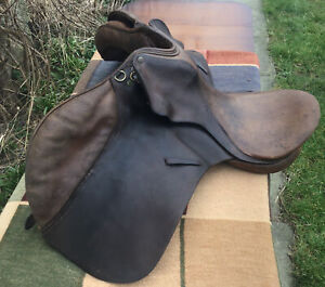 Good Quality Vintage Brown Leather Saddle
