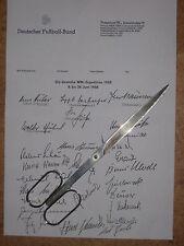 WM 1958: DFB-WM-Aufgebot mit allen Autogrammen, Rarität+Uniktat
