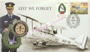 PNC Australia 2021 Lest We Forget ANZAC RAAF Perth Mint $1 Commemorative Coin