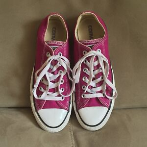CONVERSE All Star Pink Canvas Low Top Shoes Sneakers Unisex Mens 5 Womens 7