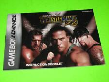 ROAD TO WWW WRESTLEMANIA X8/18 :NINTENDO GAME BOY ADVANCE INSTRUCTION MANUAL