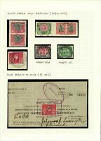 South Africa Small Range of Revenues 1913/52 to Include Mining Permit 5/- Court